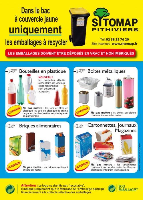 Préférence Déchets Ménagers Tri Recyclage Encombrants Beauce Orléans Loiret CJ32